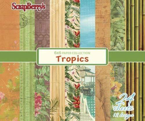 Papier-Set (24pcs) 190 G / M2 - Tropen, Scrapberrys, Papier, 15 x 15 Cm, Gedruckt, Scrapbooking