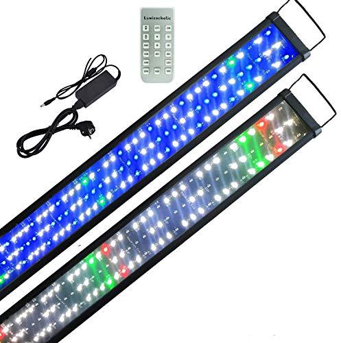 Boomersun Aquarium Beleuchtung LED Lampe Mondlicht dimmbar 9 Modi Aufsetzleuchte mit Zeitsteuerung Fisch Tank SMD5730 LED Wasserpflanzen Aquariumleuchte 120-150cm