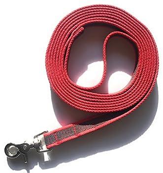 DOGS and MORE - Laisse caoutchoutée => 3 mètres en rouge (avec dragonne).