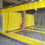 Paneles Laterales Con Ventana, Con Ojales PVC Tarea Pesada Panel Lona Impermeable, Resistente Clima Cortina Partición Por Pérgola, Porche, Gazebo, Jardín HENGYUS ( Color : Yellow , Size : 3.5x2.5m )