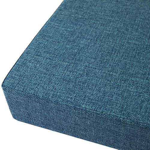 N / A N ASolid Color Linen Cotton Cushion D'assise, Soft No-slip pad Garden Patio Dining From Sofa Cushion Sol, Chair Cushion Cushion Thickened Square Headquarters, Foam Cushion Tatami,Marine,40x4.