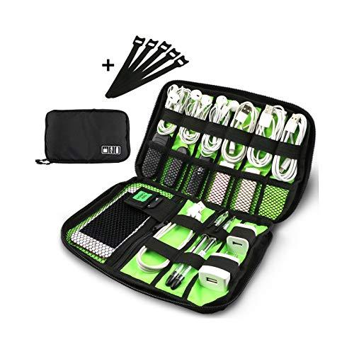 Buluri Cable Organizer Accessori Elettronici Portatili da Viaggio Custodia Digitale per Cavi di Ricarica, Cavi USB, Cavi per cuffie, Dischi Rigidi, Nero