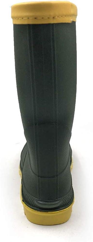 AMOJI Kids Rain Boots Shoes Easy-on Waterproof YX16