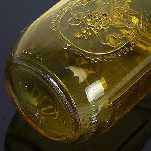 Wii 450ml Mason Jar Botella de Cristal Creativo Jabón dispensador de jabón líquido (Color : Yellow)