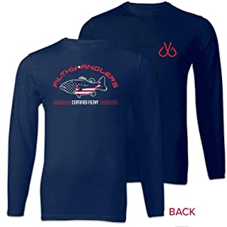 Filthy Anglers Long Sleeve Performance UPF Fishing Shirt : Bamboo Material : Lightweight UV Protection - Multiple Options