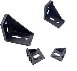 WHHHuan Lot de 5 pièces/10 raccords d'angle 3030 en aluminium noir 3060 4040 4080 pour profil industriel en aluminium (cou...