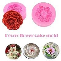 3D Peony Shape Mould Cake Fondant Chocolate Soap Making Mold Tools Pink