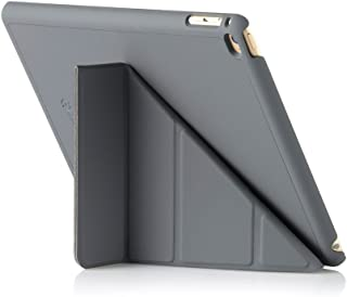 Pipetto Origami iPad Case Air 2 with 5 in 1 stand & auto sleep/wake function Dark Grey
