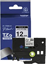 【brother純正】ピータッチ ラミネートテープ TZe-231 幅12mm (黒文字/白)