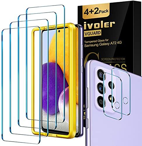 ivoler 4 Unidades Protector de Pantalla para Samsung Galaxy A72 4G+ 2...
