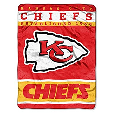 Officially Licensed NFL Kansas City Chiefs 12th Man Plush Raschel Throw Blanket, 60  x 80