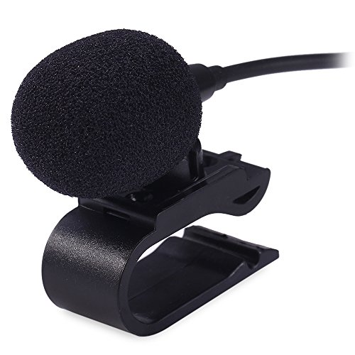 AUTOLOVER 3.5mm Portable Car External Microphone Mic DVD Radio Laptop Stereo Player Head Unit with 3m Cable Plug and Play
