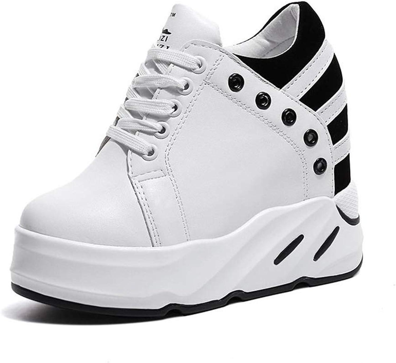 Fashion shoesbox Women's Flat Hidden Heel Wedge Sneakers Ladies Fashion Height Increasing Breathable Walking shoes