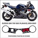 Protector placa de dirección adhesivo gel compatible con Suzuki 600 750 GSX R K4 K5 2004-2005