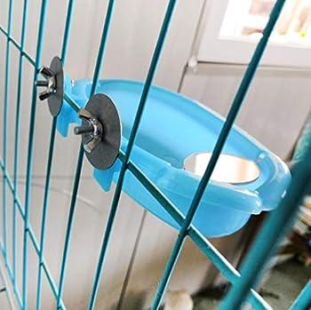 Baignoire pour oiseaux avec miroir - Petit perroquet - Douche avec mini miroir pour cage à oiseaux - Avec accessoires
