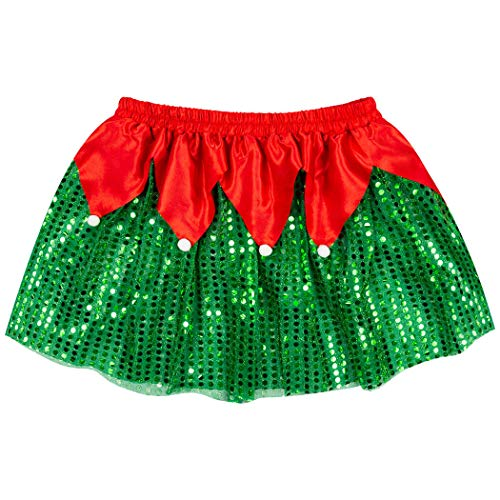 Gone For a Run Holiday Running Costume Skirt | Sequined Elf Tutu
