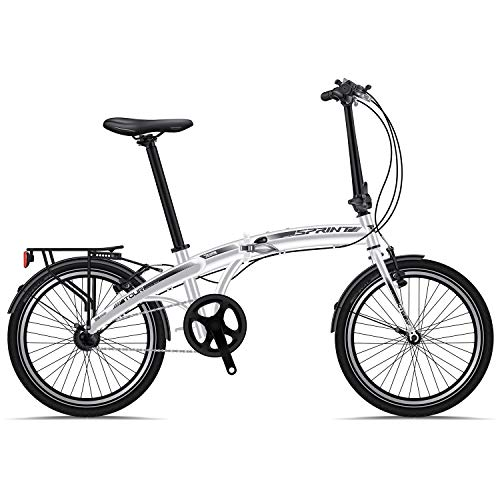 BIKE SPORT LIVE ACTIVE Klapprad Fahrrad Bikesport Tour 20 Zoll ALU Rahmen Shimano Nexus 3 Gang (Weiß)
