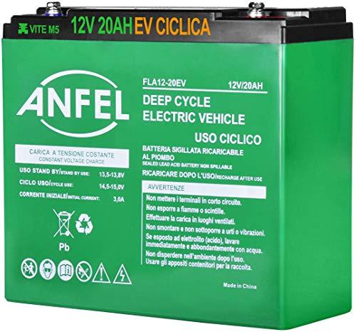 Batteria Lead Acid AGM 12V 20Ah al Piombo Ricaricabile Ciclica Pila Batteria Ermetica Batterie di Ricambio per Trattorino Tosaerba Tagliaerba Carrelli Golf Cars Carrozzina Scooter