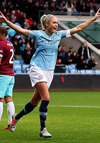 STAAT HOUGHTON MANCHESTER CITY VROUWEN VS WEST HAM VROUWEN 2018 FOOTBALL POSTER 10933 (A3-A4-A5)