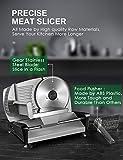 Allesschneider Brotschneidemaschine Elektrisch, Aufschnittmaschine mit Einstellbare Schnittdicke(0-15mm), Wurstschneidemaschinee mit Scharfe Edelstahlklinge zum Fleisch/Brot/Obst/Wurst, 150W, AICOK - 4