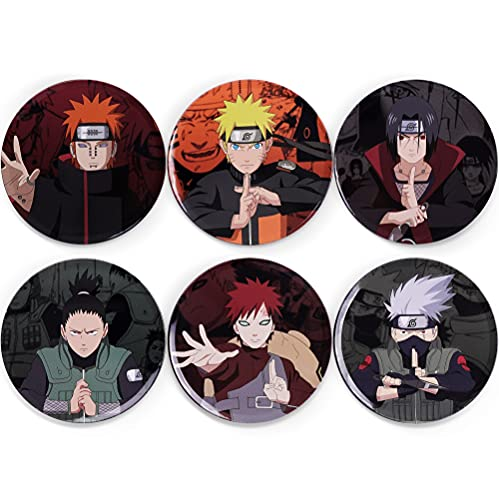 Jumant Anime Coasters Set of 6 - Anime Merch - Naruto Stuff for Boys - Naruto Merch - Naruto Merchandise - Naruto Gifts - Naruto Accessories - Anime Merchandise - Naruto Set - Anime Lover Gifts