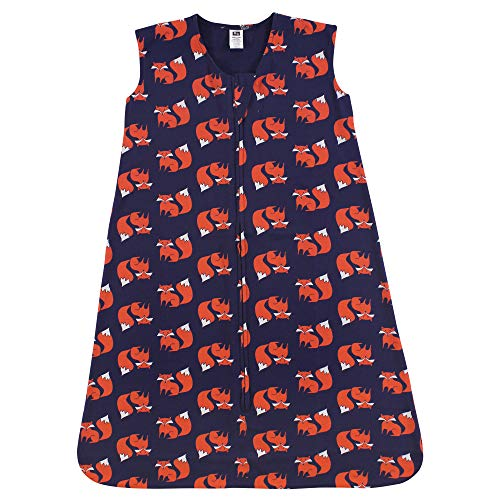 Hudson Baby Unisex Baby Cotton Sleeveless Wearable Sleeping Bag, Fox, 18-24 Months US