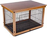 YUHT Dog Crate Dog Carrier Metal Dog Cage Brown Portable Pet Cage Dog Puppy Cage with Non-Toxic Coating Indoor/Outdoor Easy To Clean and Load-Bearing