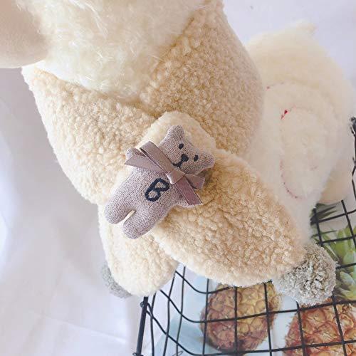 Gyratedream 2-8Y Kinder Unisex Lammfell Schal Allgleiches warmes niedliches Plüsch Bärendekoration