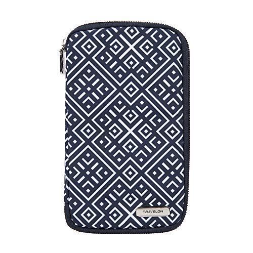 Travelon RFID Blocking Family Passport Zip Wallet, Mosaic Tile