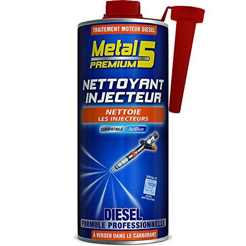 Nettoyant Injecteur Diesel – 1L – Metal 5 Premium – Traitement curatif alliant une combinaison d'Additifs Nettoyants/Anticorrosion/Lubrifiants pour un résultat optimum