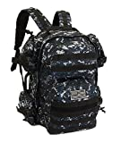 NPUSA Men's Large Expandable Tactical Molle Hydration ReadyBackpack Daypack Bag - ACU Navy Digital Camo