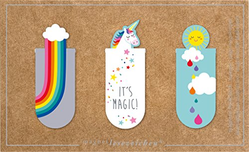 moses. 31132 Magnetlesezeichen It's Magic 3er Set, magnetisches Lesezeichen, charmant illustriert