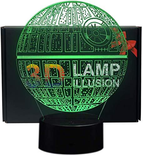 Ray-Velocity 3D Optische Illusions-Lampen LED 7 Farben Touch-Schalter Ändern Nachtlicht Für Schlafzimmer Hochzeit Geburtstag Geschenk (Todesstern)