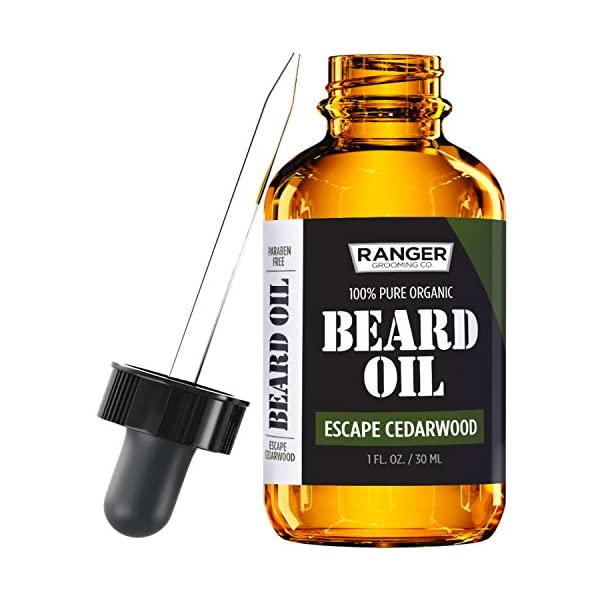 Escape Cedarwood Beard Oil & Leave In Conditioner, 100% Pure Natural Organic for Groomed Beards, Mustaches, and… 1