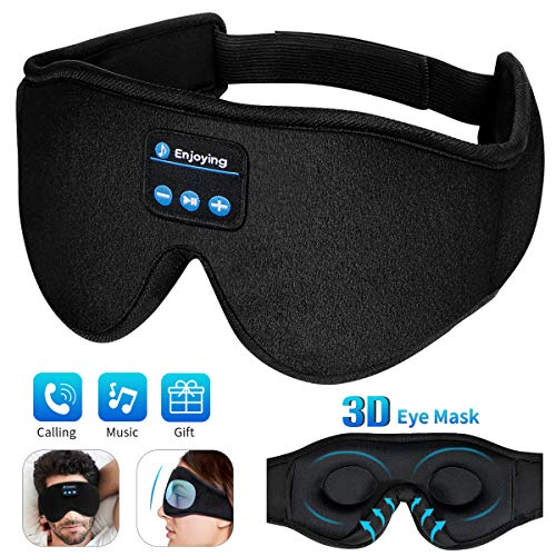 Sleep Mask,3D Upgraded Sleep Headphones Bluetooth Eye Mask for Sleeping Women ,Wireless Blindfold Mask for Naps/Yoga/Night/Office/Travel Unisex Birthday Gifts Men Mom Dad Her Him Adults Boys Girls