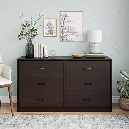 Mainstay/ Classic 6 Drawer Dresser, Espresso Finish