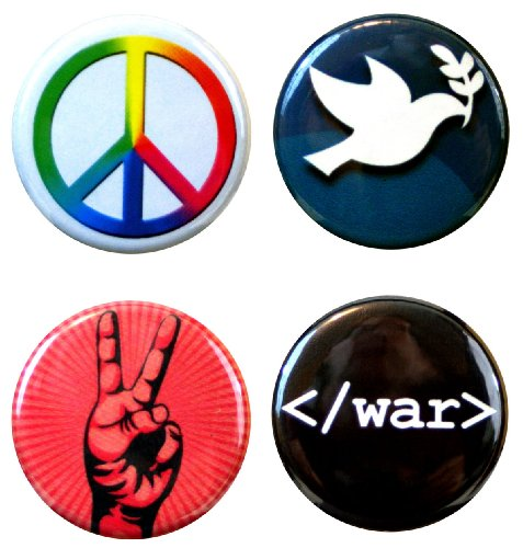 Henry The Buttonsmith Peace Button Set, Multicolored, One Size