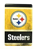 NFL Pittsburgh Steelers Team Logo Tin Sign, 8 x 12-inches, Yellow