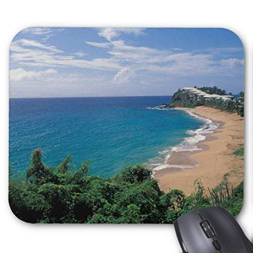Muismat, Gaming Mouse Pad Grote Grootte 300x250x3mm Dikke Caribbean, Antigua, Gordijn Bluff Hotel en Extended Mouse Pad Antislip Rubber