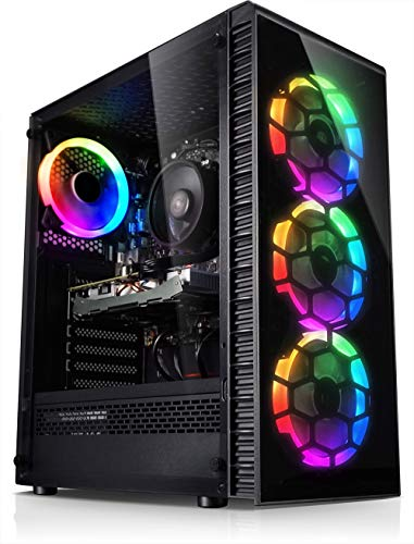Kiebel 184289 - Ordenador de sobremesa (procesador Intel i7 10700F, 8 x 2,9 GHz, 16 GB DDR4, 500 GB SSD, NVIDIA Geforce RTX 2070 de 8 GB, para gamer, juegos de PC [184289]