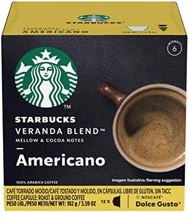 Starbucks Coffee by Nescafe Dolce Gusto Starbucks Veranda Blend Americano Coffee Pods 12 capsules product image
