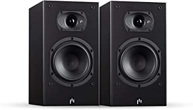 Aperion Audio Intimus 4B Bookshelf Satellite Surround Speakers, Passive Need Amplifier or Receiver, 4-Inch Fiber Glass Woofer and Silk Dome Tweeter (Pair Stealth Black)