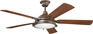 Kichler Lighting Kichler 310117TZP Transitional 60``Ceiling Fan from Patio Collection Dark Finish, 60 Inch, Tannery Bronze Powder Coat