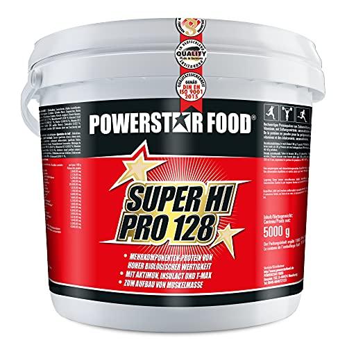 SUPER HI PRO 128   Premium Mehrkomponenten Protein   Höchstmögliche Biologische Wertigkeit   84% Protein i.Tr.   Low carb   Muskelaufbau & Abnehmen   Deutsche Herstellung   5kg Eimer   Chocolate