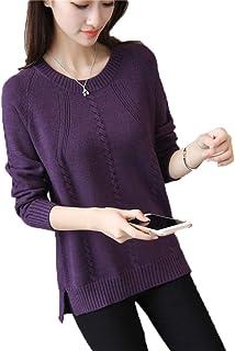 Otoño e Invierno de Cuello Redondo Suelta suéter Mujeres Corta del párrafo basando la Camisa de Manga Larga Camisa de la M...