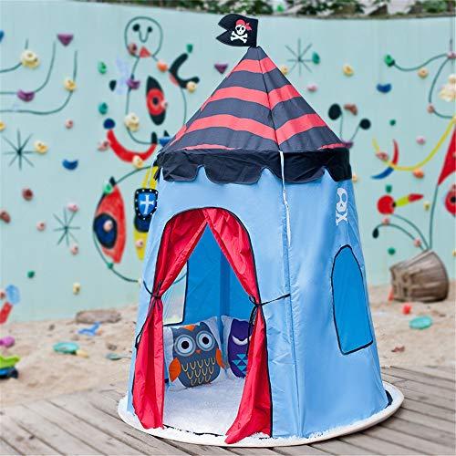 Tienda de niños portátiles Cómoda Tienda De Campaña Tipi Pirata For Niños Bebé Interior Y Exterior Jugar Tamaño Ideal For Habitaciones Infantiles Decoración De Fiestas Y Días Festivos Juguetes de Play