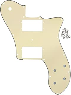 IKN 3Ply Cream 72 Thinline Pickguard Guitar Pick Guard Scratch Plate with Screws Fit Vintage Style 72 Telecaster Deluxe 14 Hole