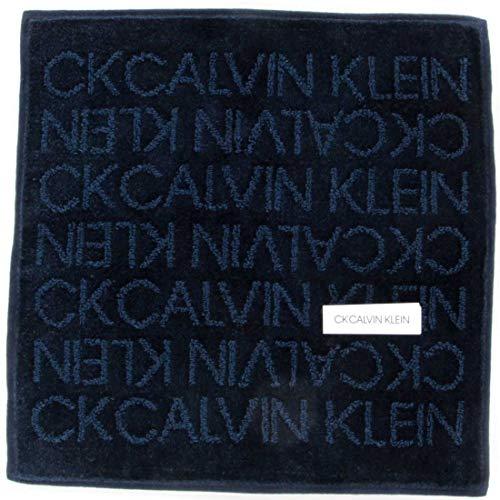 カルバンクライン紳士タオルハンカチ(ネイビー)ロゴ[綿100%]ビジネスメンズハンドタオル25cmCKCALVINKLEIN119031-9255-62