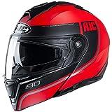 HJC i90 DAVAN, negro/rojo