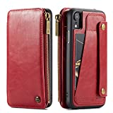 [Material]: 100% Brand new and high quality Genuine PU Leather,Best gift for Christmas Thanksgiving Father's day Mother's day ,Fit for Men Women Girl Boy Unisex; [Size]: Perfect fits for Apple iPhone XR 2018 6.1inch 2018 ,[Three Color]:Adapter includ...